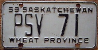 SASKATCHEWAN 1959 ---PUBLIC SERVICE VEHICLE PLATE