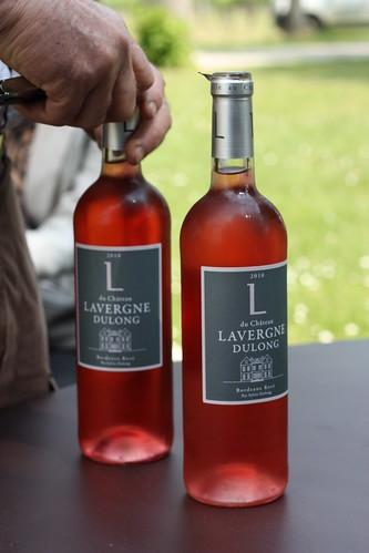 Un verre de Bordeaux Rosé, pour accompagner lété