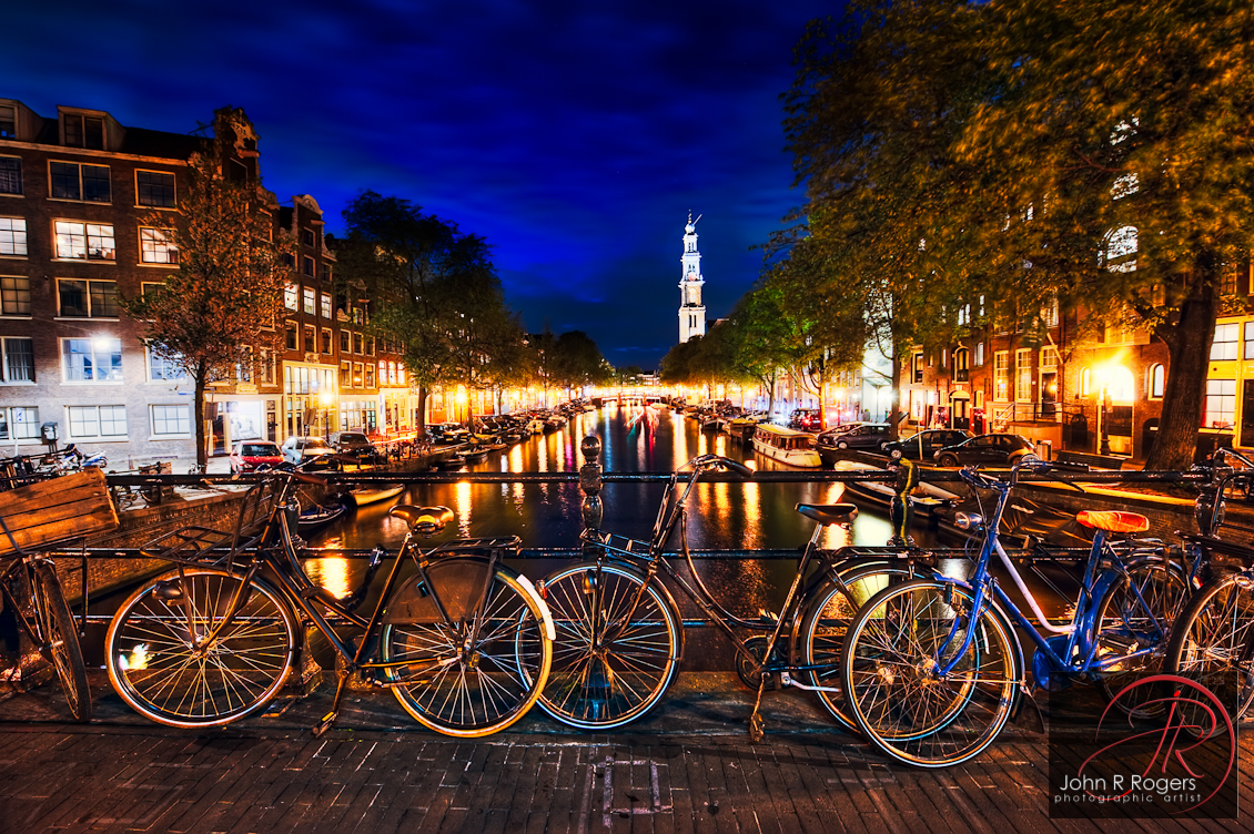 Amsterdam Canal at Nightfall