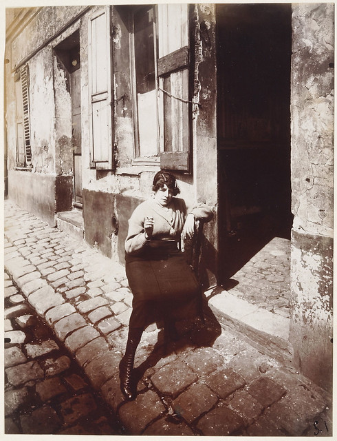 Prostitute on Her Shift, rue Asselin, La Villette, by Eugène Atget