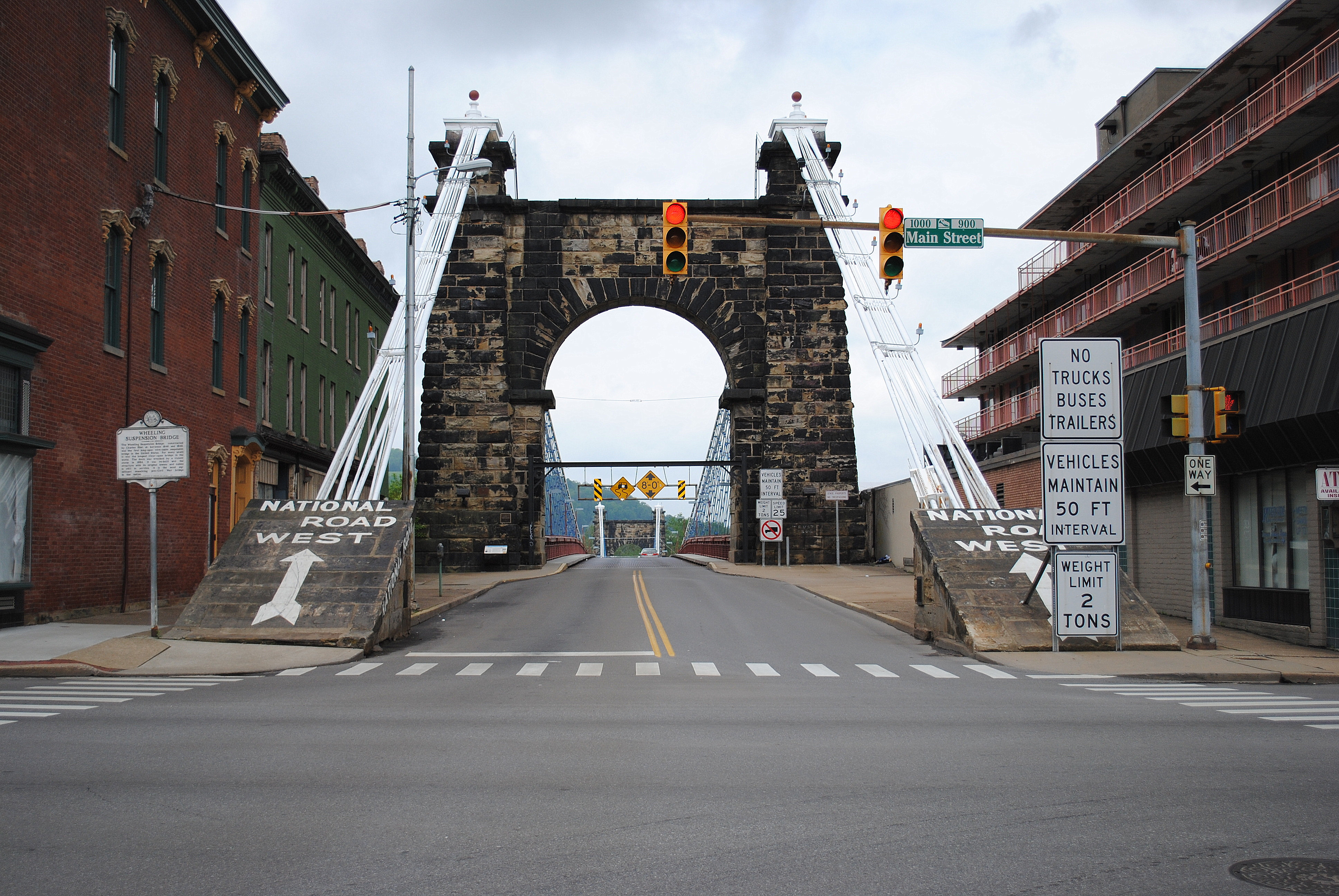 Ohio belmont county flushing - Road Bridge West Island Grid Virginia Us Suspension Steel Route Wv National 40 Wheeling