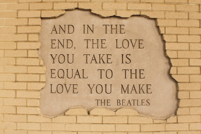 and in the end the love you take is equal to the love you make the beatles flickr. Black Bedroom Furniture Sets. Home Design Ideas