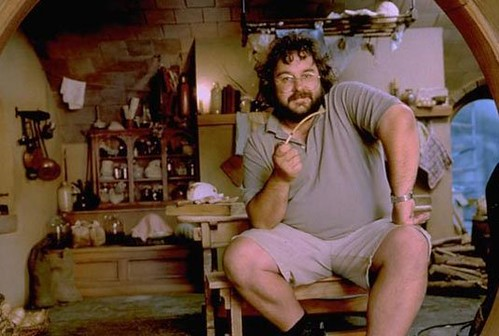 Peter Jackson on set of Lord of the Rings