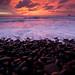 Round Rocks Reflecting Post-Sunset Hues by realkuhl