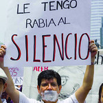 Mexican journalists protest at rise in violence against them. Photo by the Knight Foundation on Flickr.com
