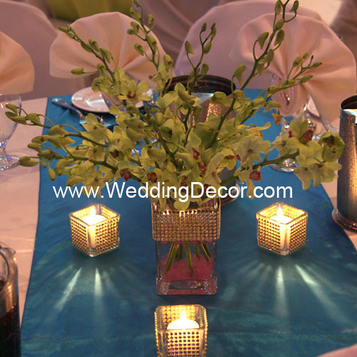 Wedding Centerpieces green dendrobium orchids