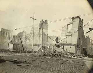 Businesses that Were Destroyed By Fire, Dayton, OH - 1913 Flood
