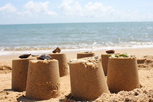 sand castles on trinity beach QLD