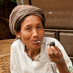 Marma Woman Enjoying a Smoke - Bandarban, Bangladesh