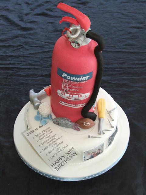 Fire Extinguisher Birthday Cake