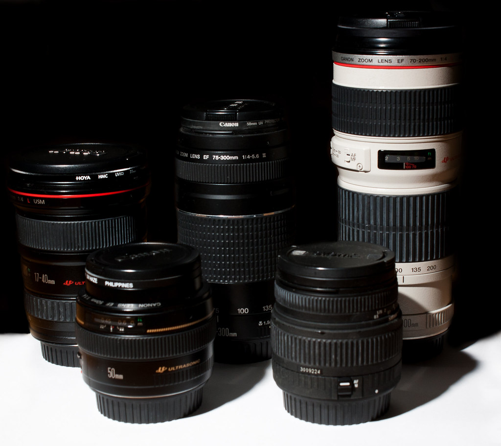 Canon lenses (and a Sigma one)
