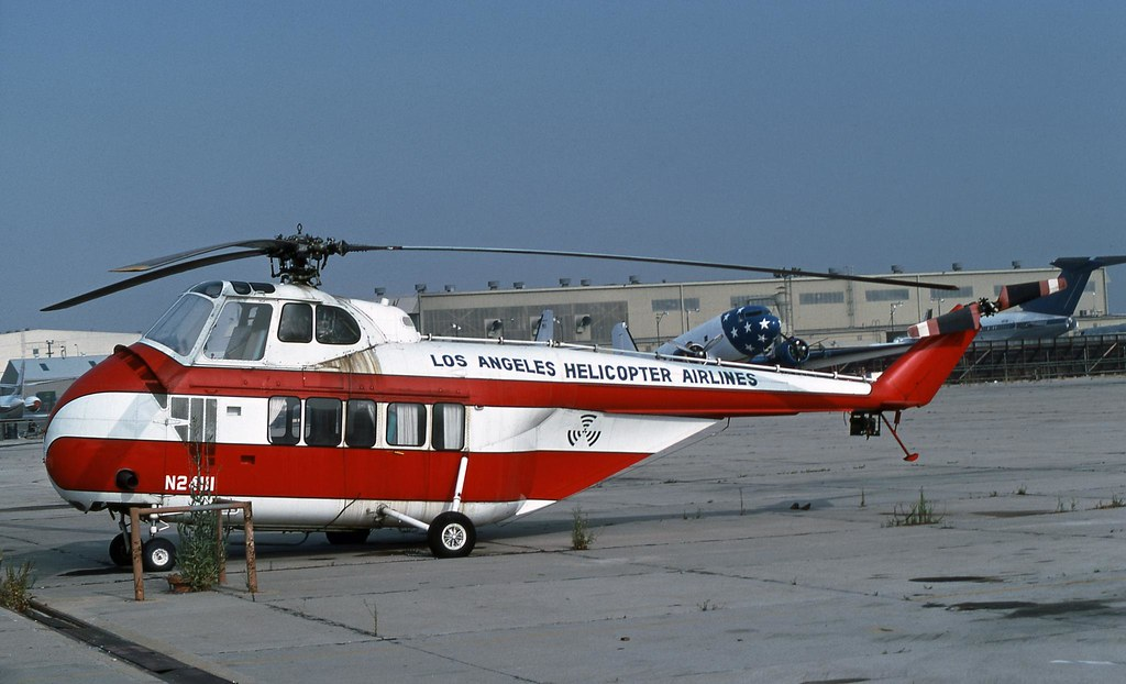 Elicottero S 55 : Los angeles helicopter airlines sikorsky s a photo
