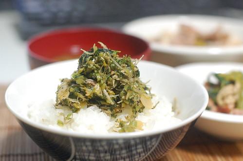 大根葉、じゃこ、ごまでふりかけにしたら米がすすむ! #jisui