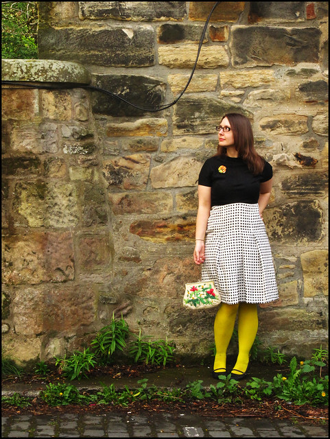 vintage dress and yellow