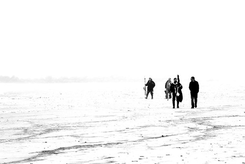 ocean friends light blackandwhite bw white ny newyork black blanco beach monochrome fog composition contrast blackwhite fishing sand nikon friend surf negro gray foggy highcontrast gear compo longbeach nikkor cotcmostinteresting longbeachnewyork blackwhitephotos 18105mm flickraward nikkor18105mm d3100