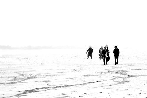 ocean friends light blackandwhite bw white ny newyork black blanco beach monochrome fog composition contrast blackwhite fishing sand nikon friend surf negro gray foggy highcontrast gear compo longbeach nikkor cotcmostinteresting longbeachnewyork blackwhitephotos 18105mm flickraward nikkor18105mm d3100
