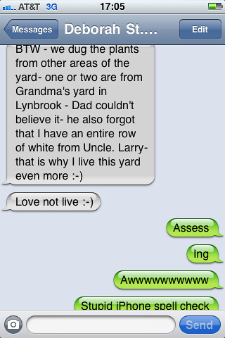 Stupid iPhone spell check.
