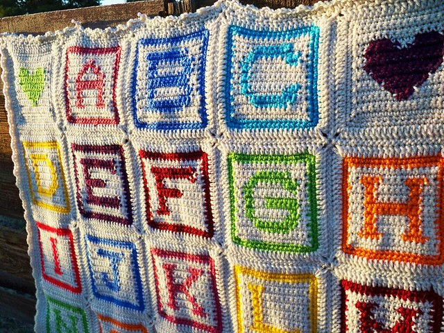 Crochet Pattern For Abc Baby Blanket : alphabet baby blanket 2 Flickr - Photo Sharing!