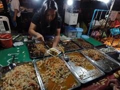 Thai food stand at Chiang Mai Sunday Walking Street, Thailand