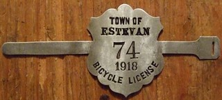ESTEVAN, SASKATCHEWAN 1918 ---BICYCLE LICENSE