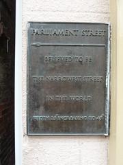 Photo of Parliament Street bronze plaque