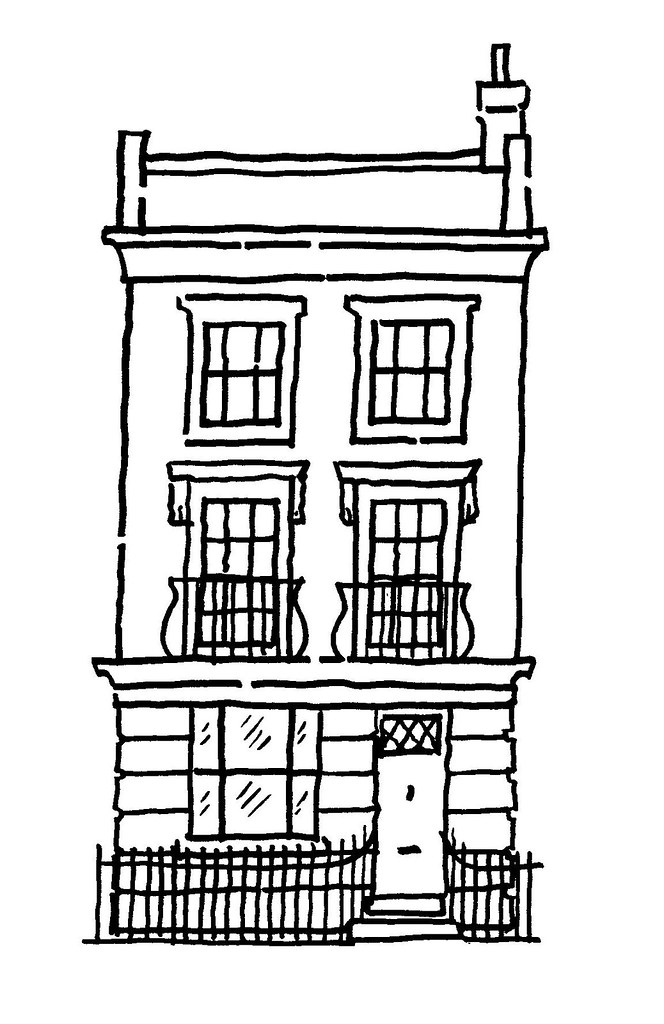 Line Drawing Of House : Line drawing illustrations steve sharpesteve sharpe