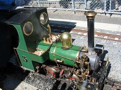 Casey steam locomotive at Box Hill Miniature Railway