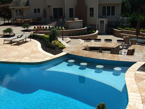 Nj pool designs and landscaping for backyard a photo on for Pool design inc bordentown nj