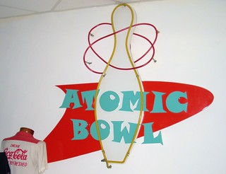 Atomic Duck Pin Bowl Sign