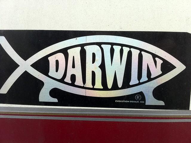 Darwin Evolution Symbol  Fish With Legs