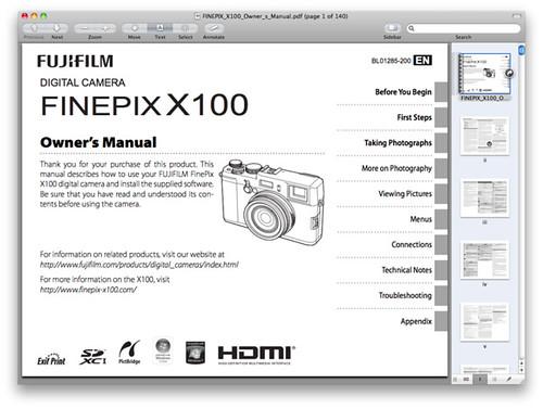 Fuji X100 Manual