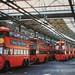 London transport Wood Green trolleybus depot 1959.