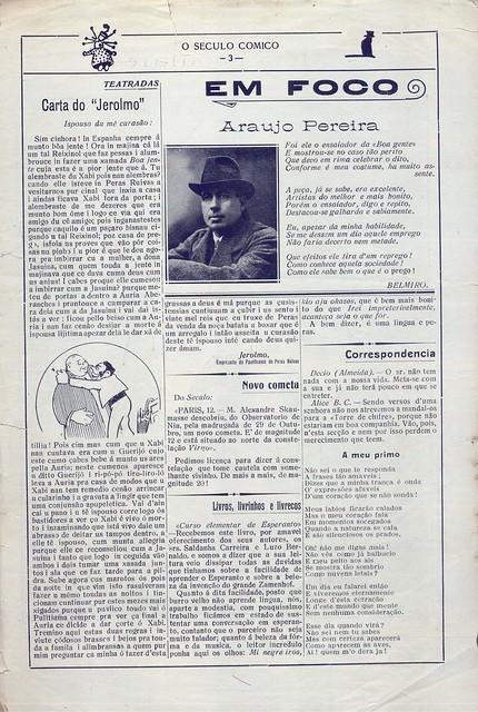 O Século Cómico, Nº 1147, Dezembro 8 1919 - 2