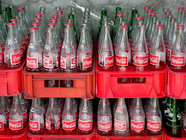 Refillable Coke Bottles, Union Island by Lee Coursey, on Flickr