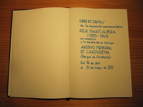 Caligrafía para exposición Félix Martí Alpera