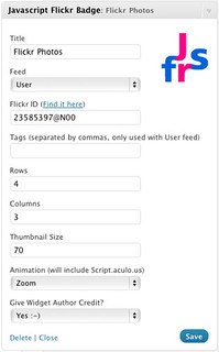 Javascript Flickr Badge - v1.5 Screenshot