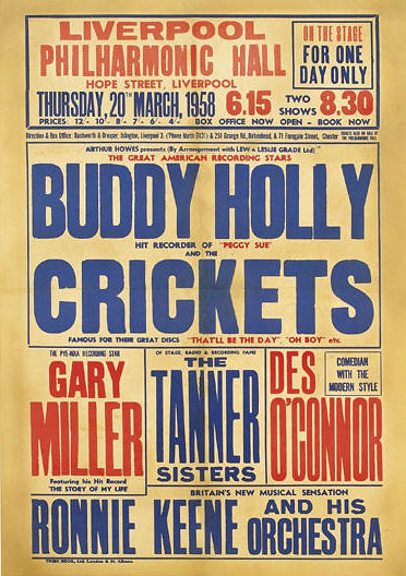 Buddy Holly - Liverpool Philharmonic Hall (1958)