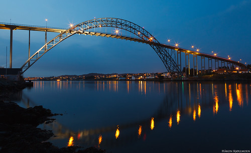 Evening at Karmsund bridge