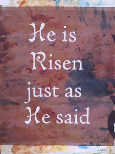He is Risen jus as He said