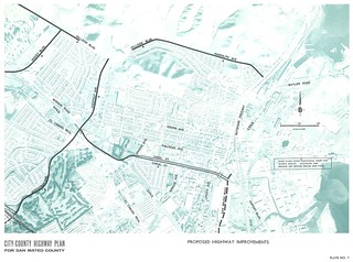 Proposed Highway Improvements (South San Francisco, 1962)