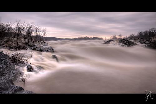 park longexposure morning water rock sunrise river dawn virginia waterfall rocks soft greatfalls potomac hdr