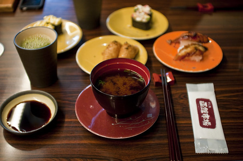 Miso and sushi