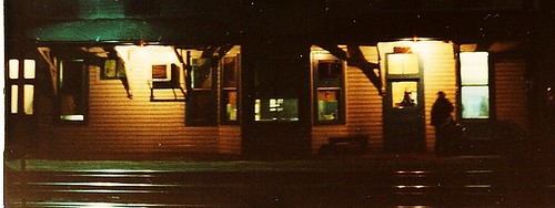 Night time at the Grand Trunk Western Elsdon depot on West 51st Street. ( Gone.) Chicago Illinois USA. April 1983. by Eddie from Chicago