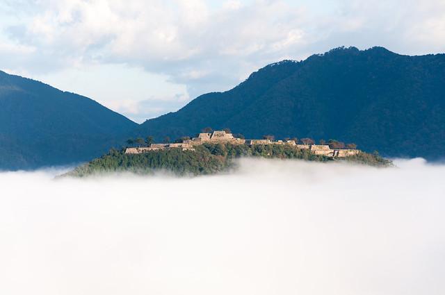 立雲峡から見た竹田城跡