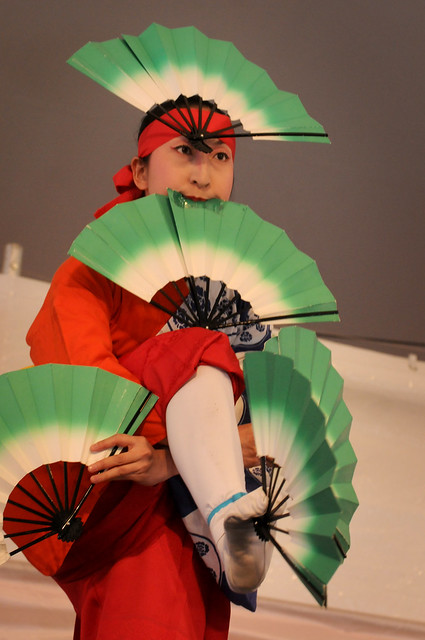 The Japanese Folk Dance Institute of New York performs on the Cherry Esplanade Stage during Sakura Matsuri 2011. Photo by Mike Ratliff.
