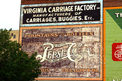 Vintage Pepsi Cola wall ad - Roanoke, VA
