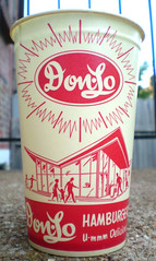 Vintage Don-Lo Hamburgers Wax Drink Cup