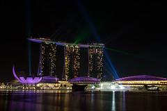 Marina Bay Sands, Singapore *laser show*