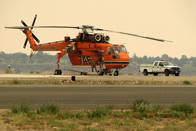 A sky crane at the airport in Los Alamos.  Photo by Jeff Berger.
