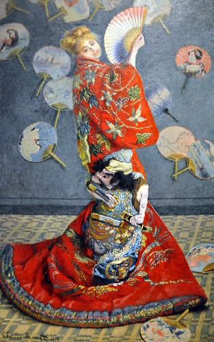 Claude Monet - La Japonaise (Camille Monet in Japanese Costume) at Boston Museum of Fine Art